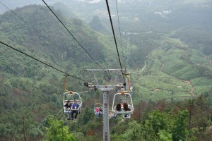 The Yaoshan Mountain ski lift