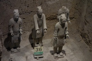 Terracotta Warriors in the 'command centre' pit 2
