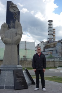 Reactor number 4 and the monument.