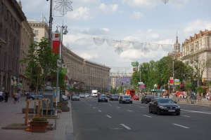 Road leading to Independence Square
