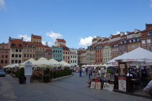 A square in Warsaw's old town.