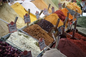 Spices at the spice market.