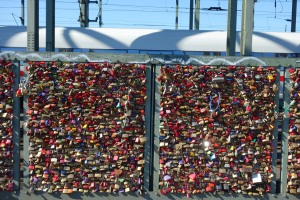 Love locks in Cologne.