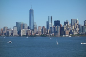 Lower Manhattan from Liberty Island