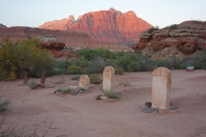Haunted grave yard in Springdale, Utah.